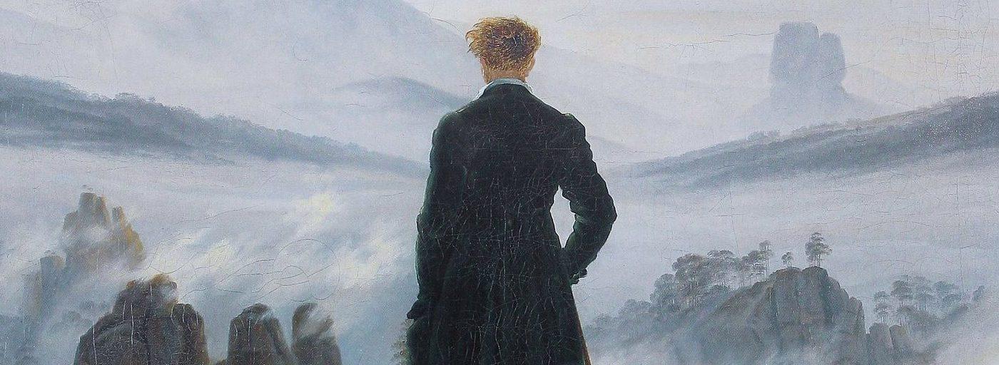 "Paintings in Film | Individual Directors | Selbstporträt ""Der Wanderer über dem Nebelmeer"" | Caspar David Friedrich"